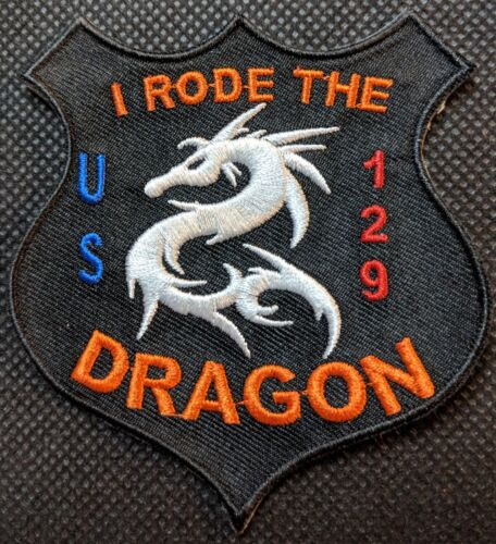 US Highway 129 Tail of the Dragon Embroidered Patch I Rode The Dragon Patch