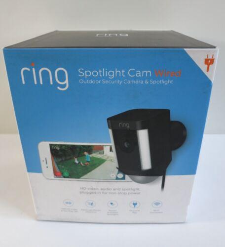 Ring Spotlight Cam Wired Black 8SH1P7-BEN0
