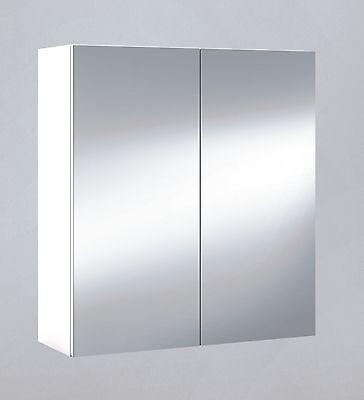 Armario con espejo para baño o aseo, colgante, blanco 60x65x21cm