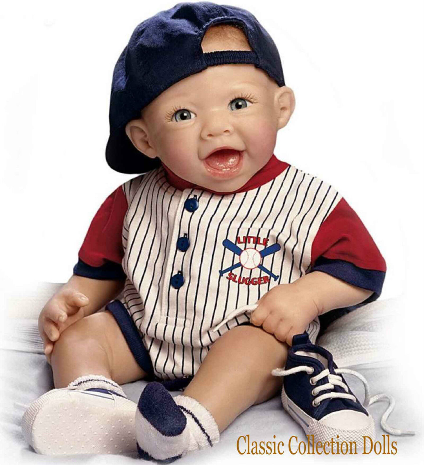 Ashton drake michael the little slugger lifelike baby for The ashton