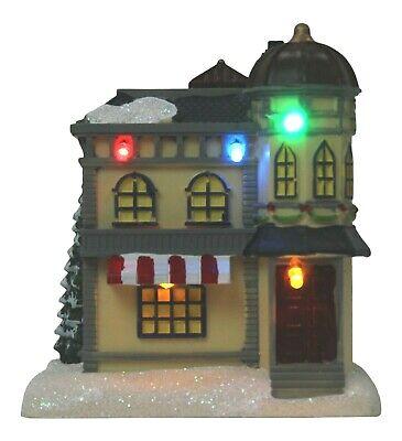 Iluminada Navidad Adorno Miniatura Tienda Mini Festivo Invierno Escena 12.5cm