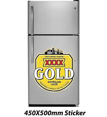 XXXX Gold Australian Beer Sticker 450x500mm Decal Plaque Sign Poster for sale  Shipping to Canada