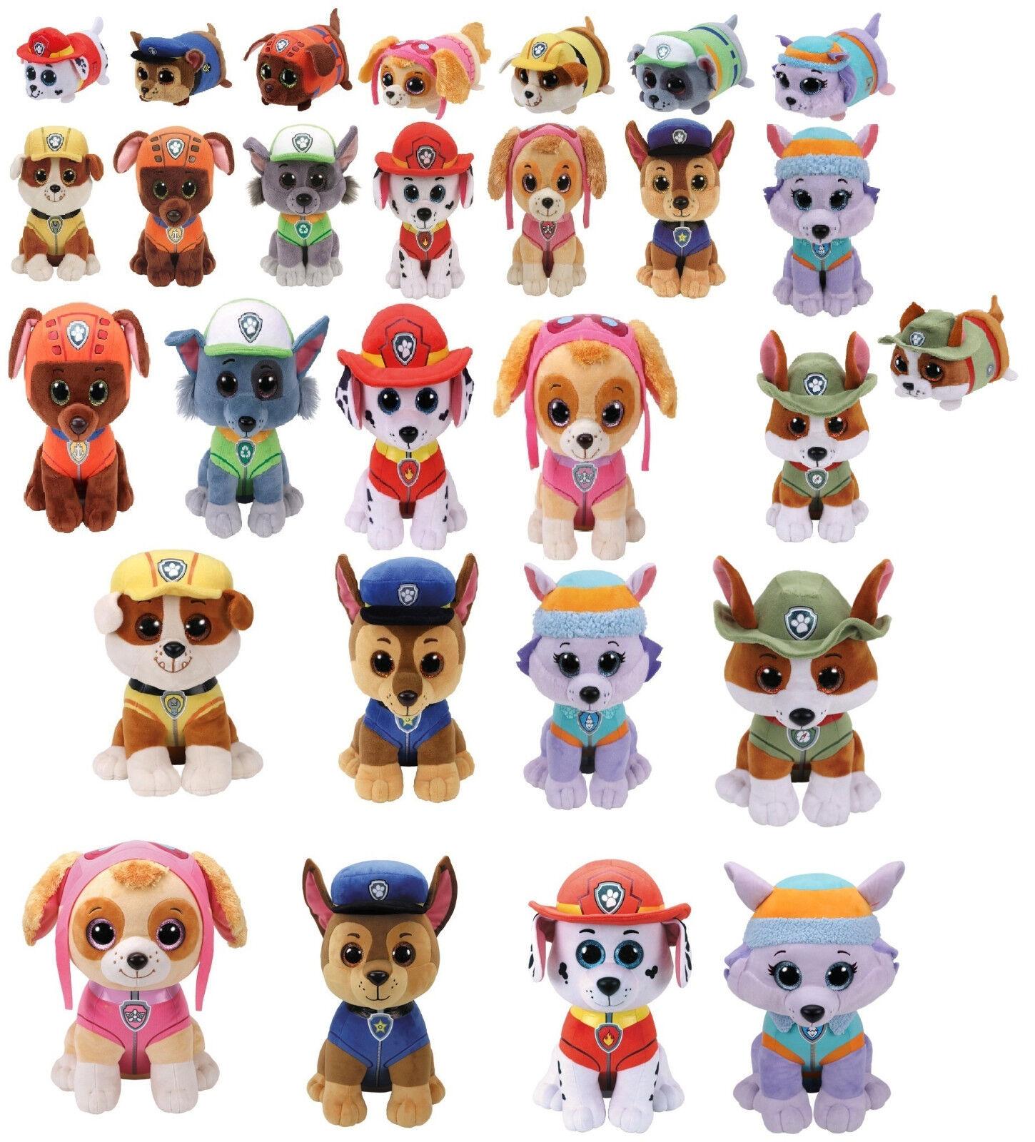 Paw Patrol Auswahl 10,15, 24 oder 42 cm ty Plüsch Figuren Tiere Glubschis® Augen