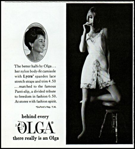 1968 Olga lingerie sexy woman body fit camisole vintage photo print Ad ads31