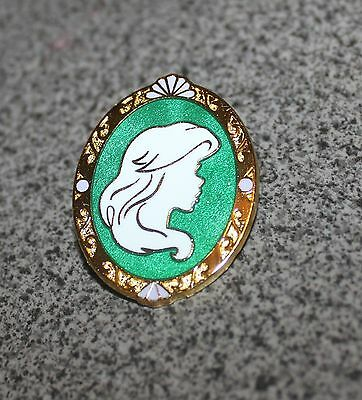 DISNEY PIN LITTLE MERMAID ARIEL PRINCESS CAMEO MYSTERY SILHOUETTE IN GOLD FRAME
