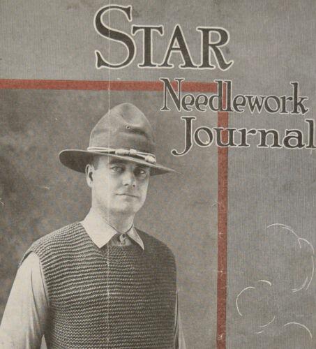 1918 Star Needlework Journal Antique Sewing Magazine 1900s
