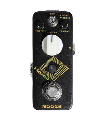Mooer EchoVerb Digital Delay and Reverb Guitar Effects Pedal True Bupass New