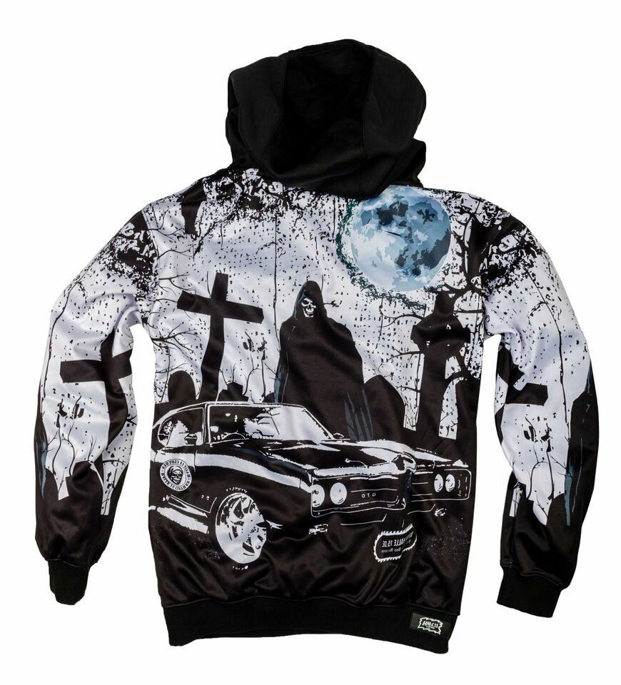Halle 15 Clothes Kapuzenpullover Death Muscle Car Style Allover in Gescher