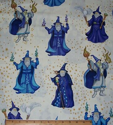 Quilting Treasures Halloween Fabric (Wizards Magic Spellbound Quilting Treasures 100% Cotton Fabric By)