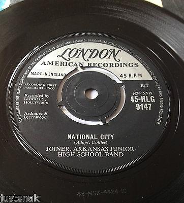 JOINER ARKANSAS JUNIOR HIGH SCHOOL BAND National City 1960 UK LONDON EX VINYL 7