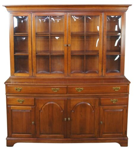 Pennsylvania House Traditional Cherry China Display Cabinet Hutch Bubble Glass