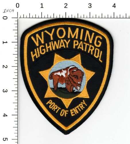 WYOMING HIGHWAY PATROL >PORT OF ENTRY< POLICE PATCH WY