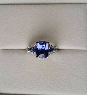 Engagement Ring White Gold with Tanzanite, Sapphires and Diamonds Forrestfield Kalamunda Area Preview