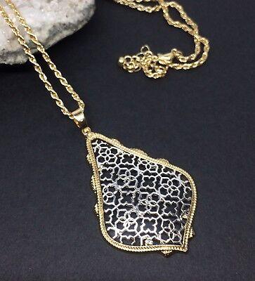 Kendra & Chloe Design Filigree Pendant Necklace Gold & Silver By Diane (Dianes Pendant)
