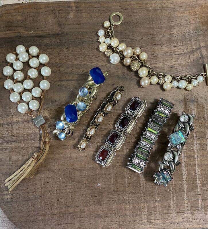 Estate Find Bracelet Lot X 7. CHICO'S Bracelet Included Used