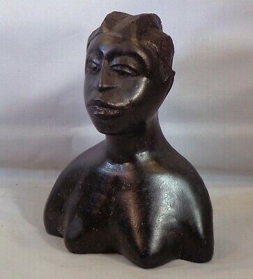 African Bust of Makonde Tribeswoman.. 5 inches x 13 cm