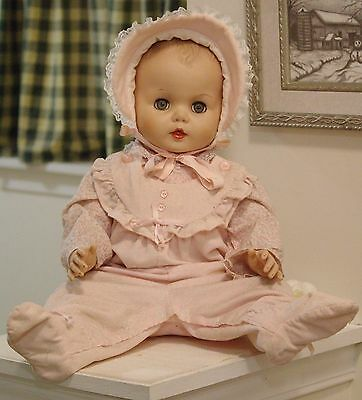 "Rare Beautiful 25"" Vinyl  Eegee Baby Carol Doll"
