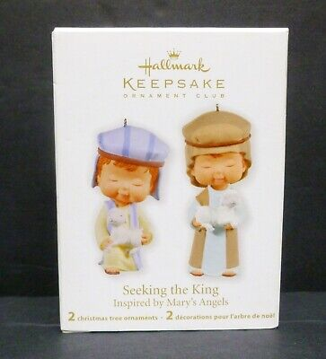 HALLMARK 2011 SEEKING THE KING MARY'S ANGELS set of 2 ornaments in 1 box NEW