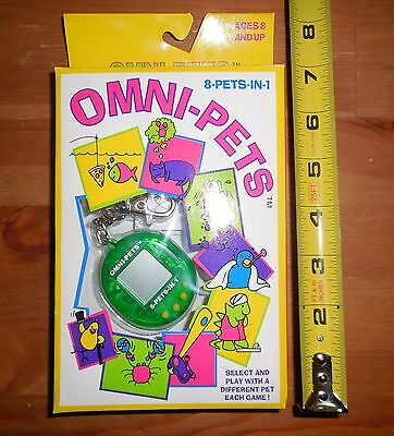 Vintage Omni-Pets 8 In 1 Keychain Pocket Game
