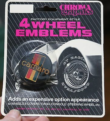 NOS Chroma Graphics mag medallions wheel center cap stickers Crossed flags