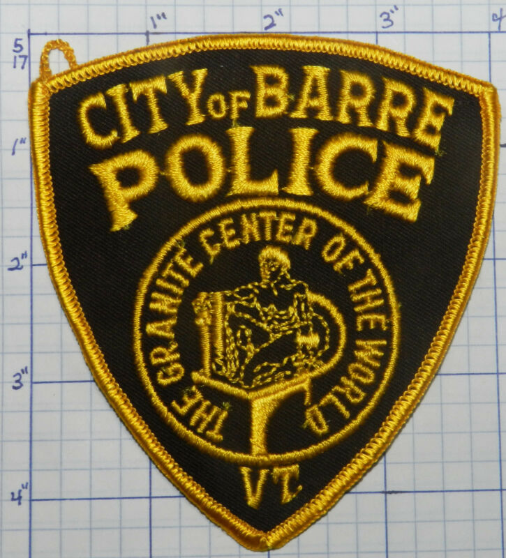 VERMONT, CITY OF BARRE POLICE DEPT VINTAGE BROWN PATCH