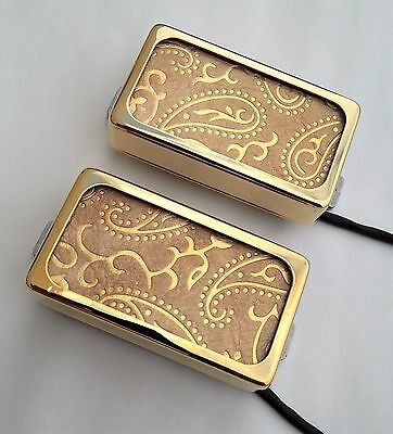GOLD PAISLEY Lace Sensor Alumitone Custom Shop humbucker set,built by Jeff - Lace Sensor Gold Pickup