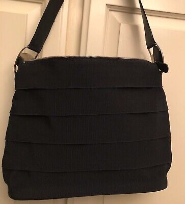 SALVATORE FERRAGAMO VINTAGE VARA BLACK Grossgrain Shoulder Bag Beautiful !