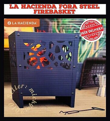 ‼️La Hacienda Fora Steel Fire basket Patio Heater Wood Burner Small Chiminea