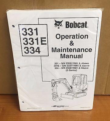 Bobcat 331 331e 334 Mini Excavator Operation Maintenance Manuel