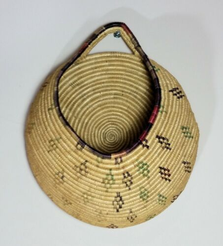 Lovely Well-Made Ethiopian Handwoven Wall Hanging Pocket Basket