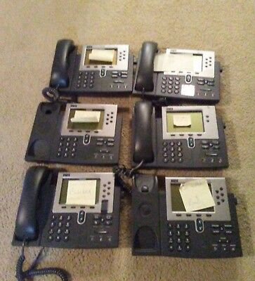 Lot Of 6 Cisco Business Ip Voip Phones 796079617941 - For Parts Or Repair