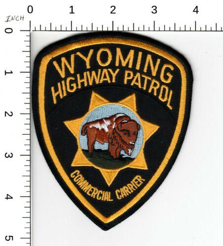 WYOMING HIGHWAY PATROL >>>COMMERCIAL CARRIER<<< POLICE SHOULDER PATCH WY