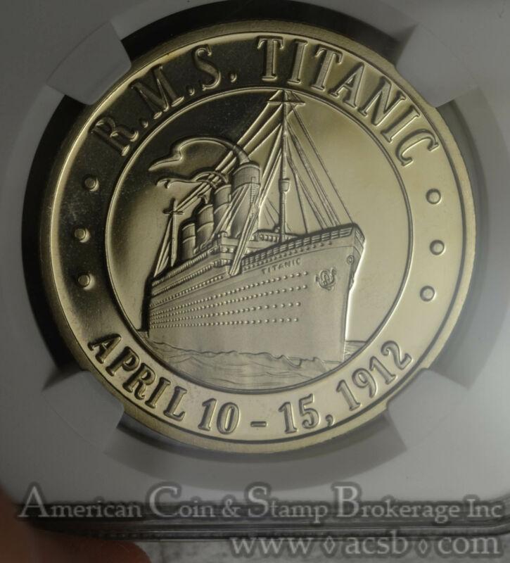 Somalia $5 Dollars 1998 PR68 UCAM NGC silver X#1a RMS Titanic Proof Ship