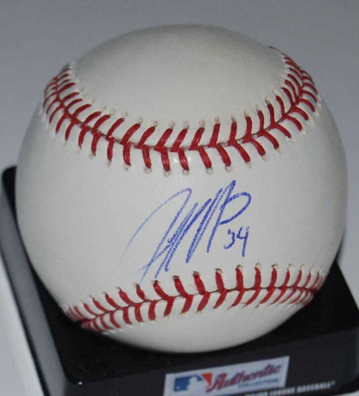 JEFF NIEMANN signed OML baseball *DEVIL RAYS* DURHAM BULLS autographed W/COA