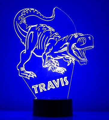 3D Dinosaur Personalized 7 Color Touch Night Light Led Lamp Table Desk Kids Gift for sale  Shipping to India