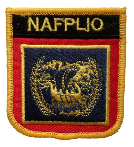 Nafplio Greece Shield Embroidered Patch