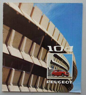 V17959 PEUGEOT 104 - CATALOGUE - 07/73 - 21x21 - FR