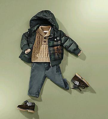Nwt Neu Gucci Baby Jungen Grün Braun Wolle Kariert Puffer Jacke 6/9m ()