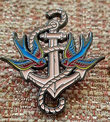 NAVY SAILOR TATTOO VINTAGE OLD SCHOOL ANCHOR WITH BIRDS LAPEL PIN](Tattoos With Birds)