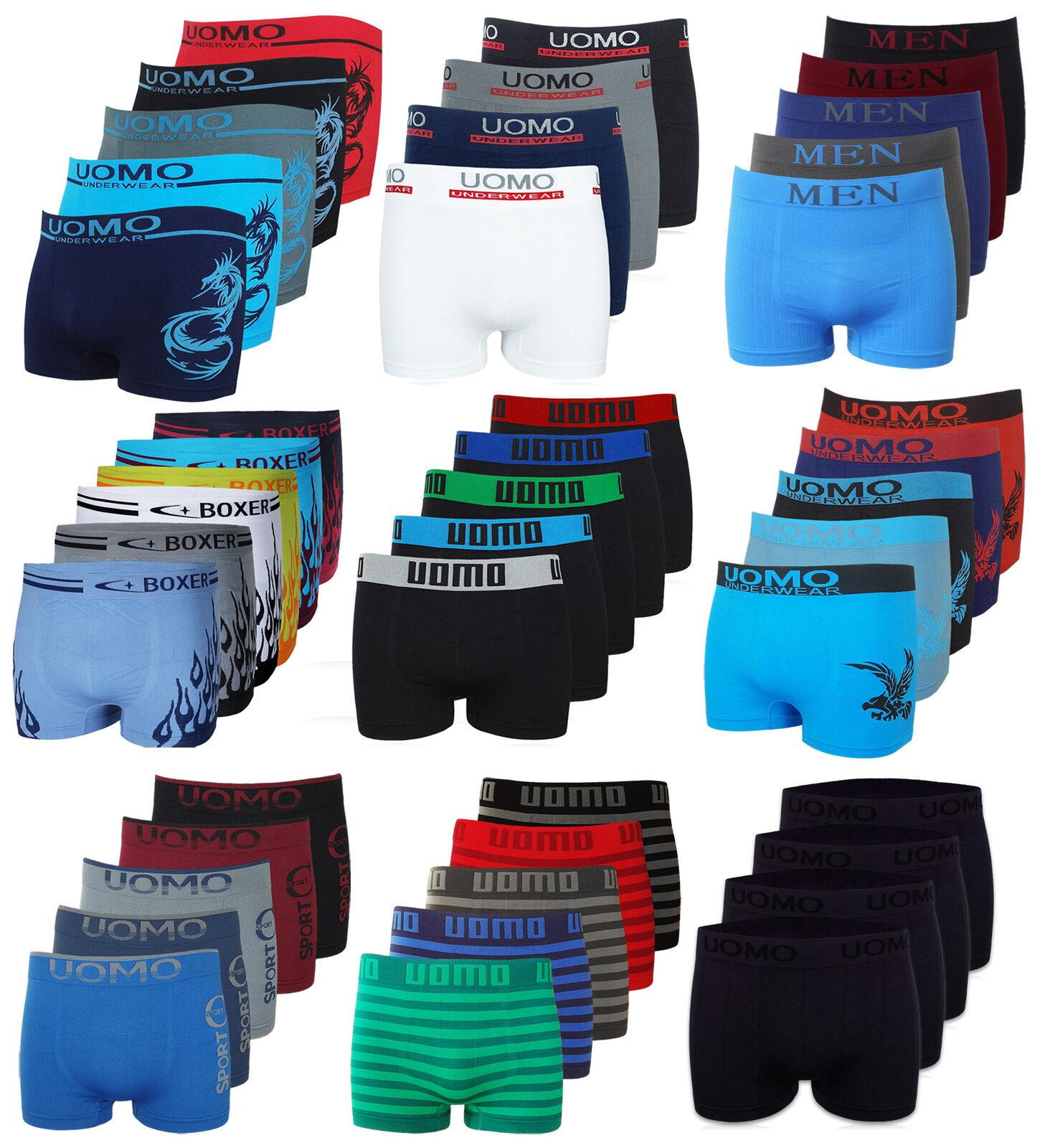 10er 20er Boxershorts Retroshort Herren Unterwäsche Unterhose Microfaser Seamles