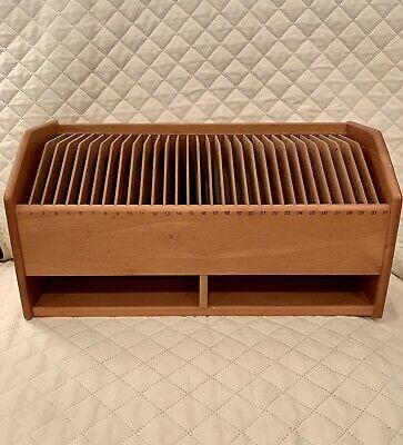 Vintage Wooden Desk Organizer Commercial Tabletop Envelope Letter Cubby Numbered