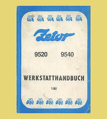 Używany, Zetor 9520  9540 Werkstattahndbuch Traktor Schlepper Original 1992 na sprzedaż  Wysyłka do Poland