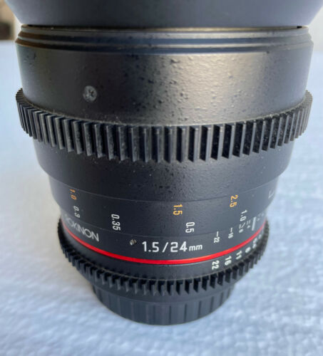 ROKINON 24mm T1.5 Cine Full-Frame Wide Angle Lens for Canon EF w/ Hood