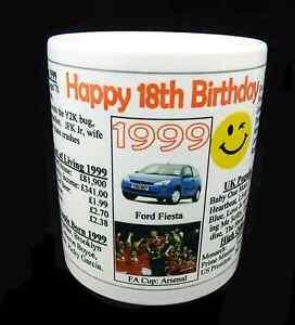 18TH BIRTHDAY KEEPSAKE MUG - 1999 - IDEAL GIFT - MEMENTO