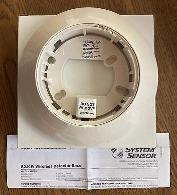 System Sensor Swift B210w Wireless Fire Alarm Detector Base