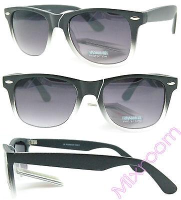 Occhiali Da Sole Donna Nerd Vintage Montatura Sfumata Nero bianco MX1