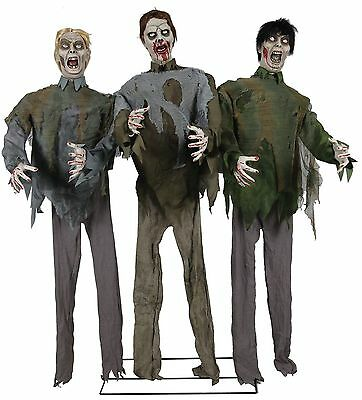 HALLOWEEN ANIMATED LIFE SIZE WALKING DEAD ZOMBIE HORDE PROP DECORATION SOUNDS - Zombie Halloween Sounds