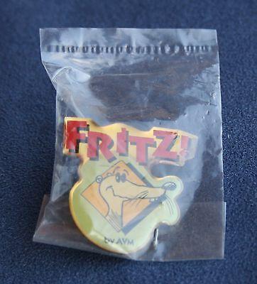 Pin FRITZ! by AVM Logo mit Maskottchen - Mobilfunk - NEU und OVP