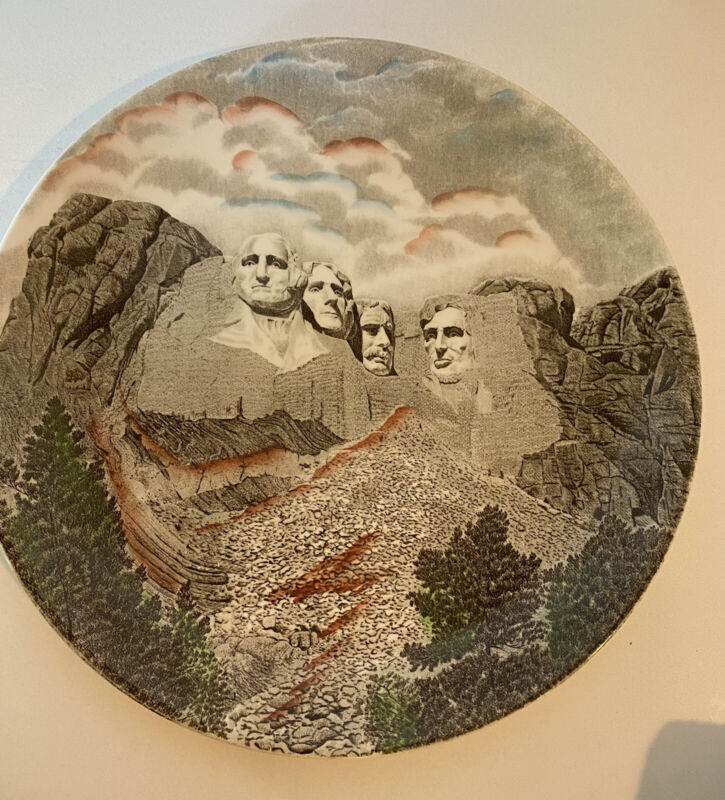 Vintage Mount Rushmore Collectors Plate In Color by Johnson Bros England