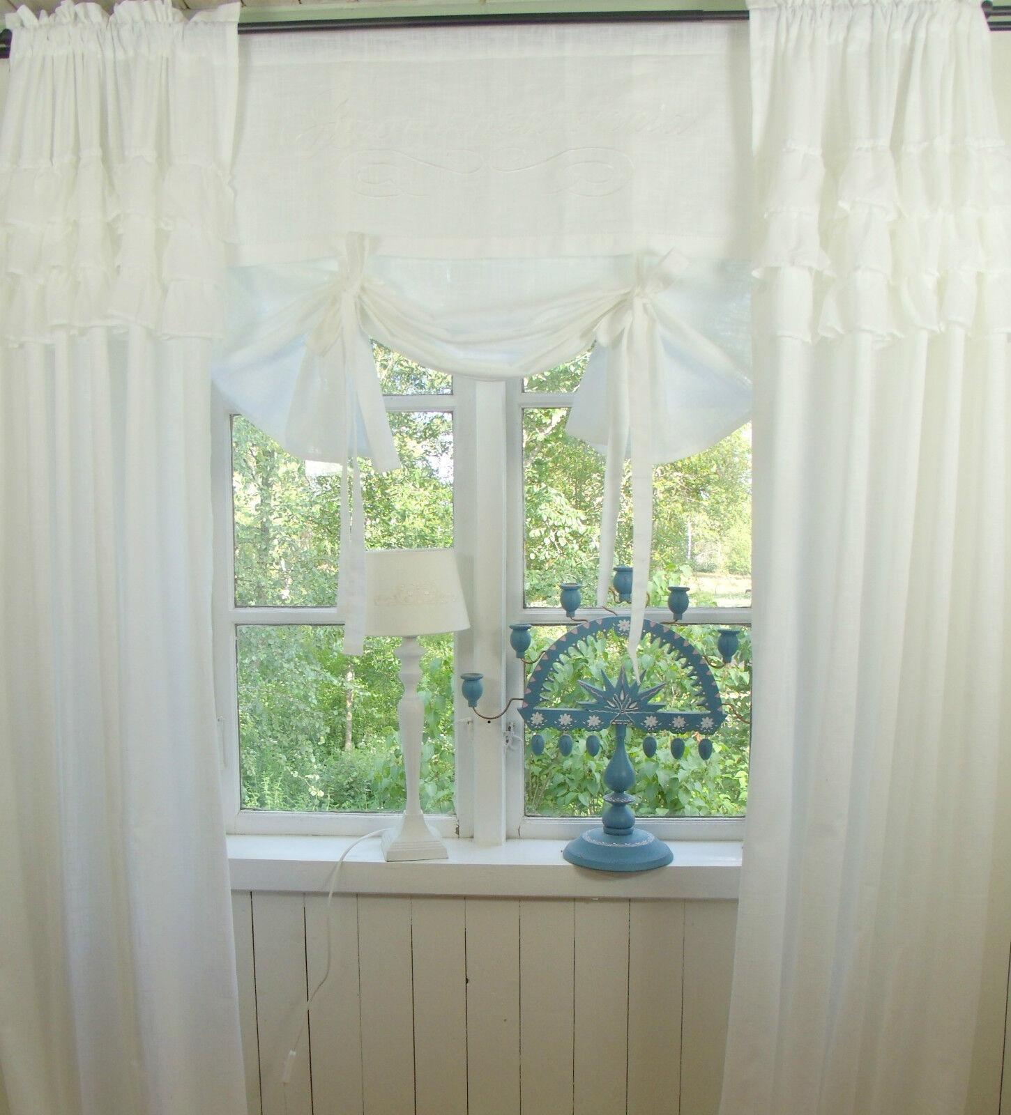 lillabelle joy raff gardine rollo 80x100 wei bestickt. Black Bedroom Furniture Sets. Home Design Ideas